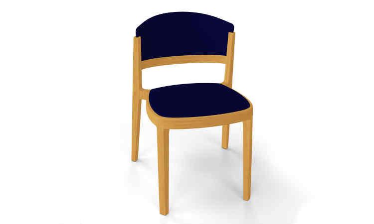 Sedia in legno in massello di faggio modello Abuela