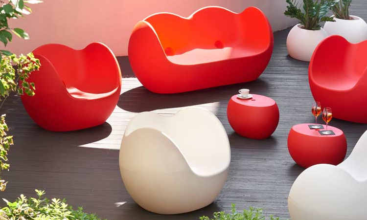 Blos Low Table, tavolino moderno da esterno