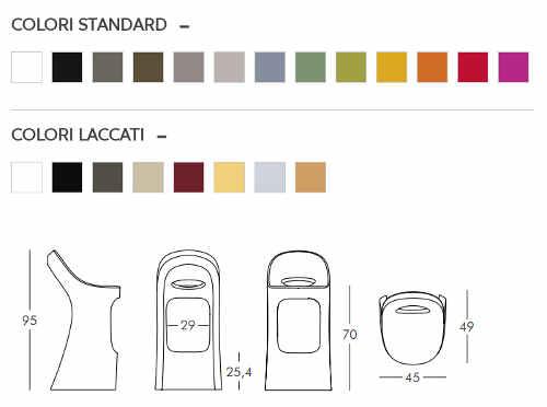 Colori e dimensioni sgabello Amélie Sit Up