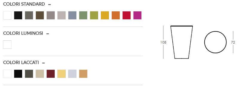 Colori e dimensioni tavolo Pint