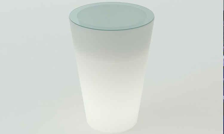 Pint, tavolo luminoso moderno per interni ed esterni