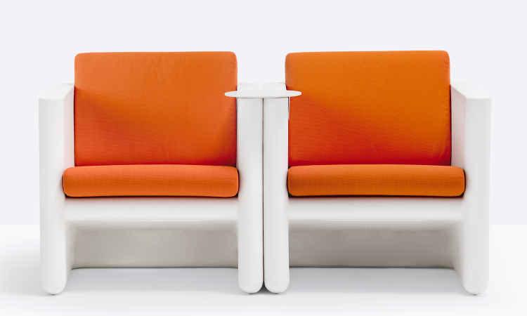 Sunset, poltrona lounge per ambienti interni ed esterni