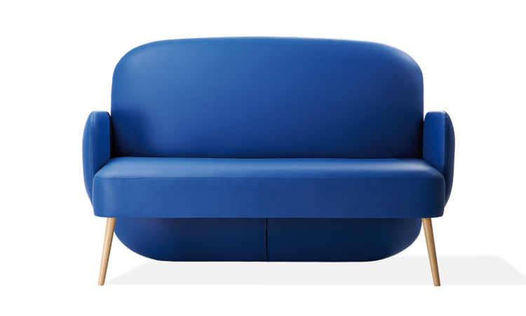 Club, divClub, divano imbottito rivestito in tessuto o in ecopelleano imbottito rivestito in tessuto o in ecopelle