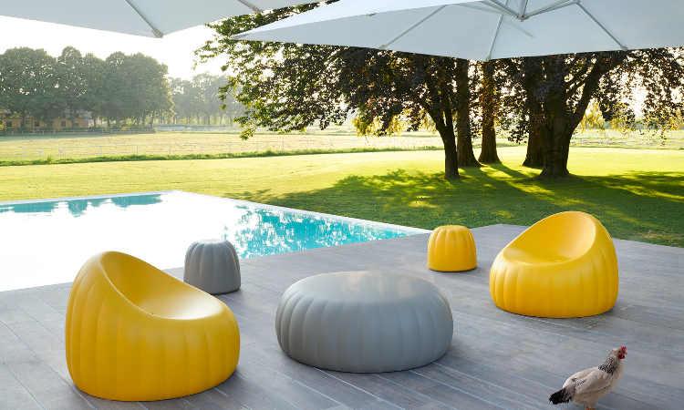 Gelée Lounge, poltrona Lounge per l'indoor e outdoor