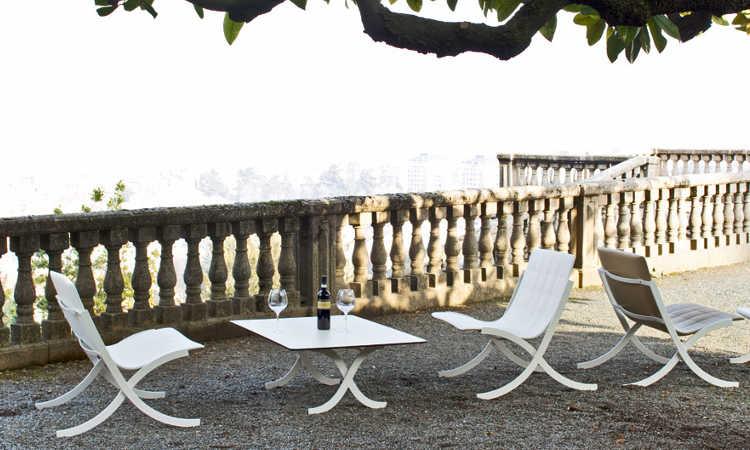 Barceloneta, poltrona moderna per l'arredo indoor e outdoor