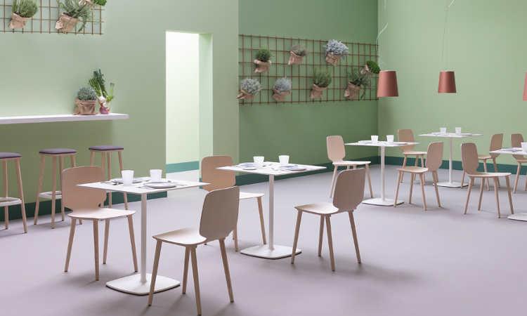 Babila, sedia ristorante per interni, in legno