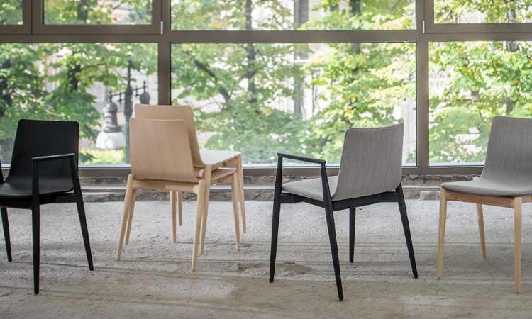 Malmo, sedia impilabile per ambienti interni