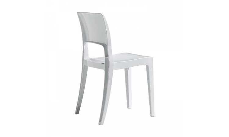 Isy, sedia bar impilabile, per l'arredo contrac indoor e outdoor