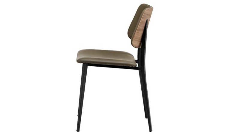 Joe, sedia ristorante in legno di rovere o noce
