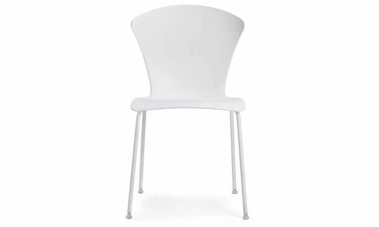 Glossy, sedia moderna per ambienti interni ed esterni