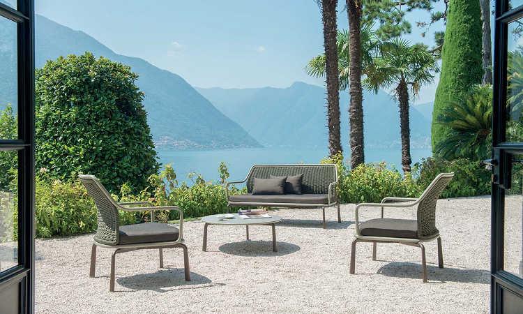 Cross, divano moderno, due posti, da giardino
