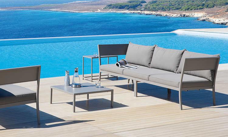 Porto Cervo, divano per esterno da due e tre posti