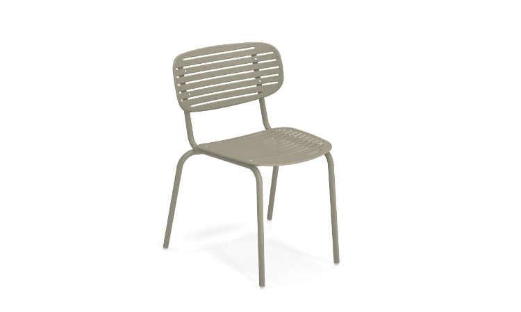Mom, sedia da giardino in acciaio con o senza braccioli