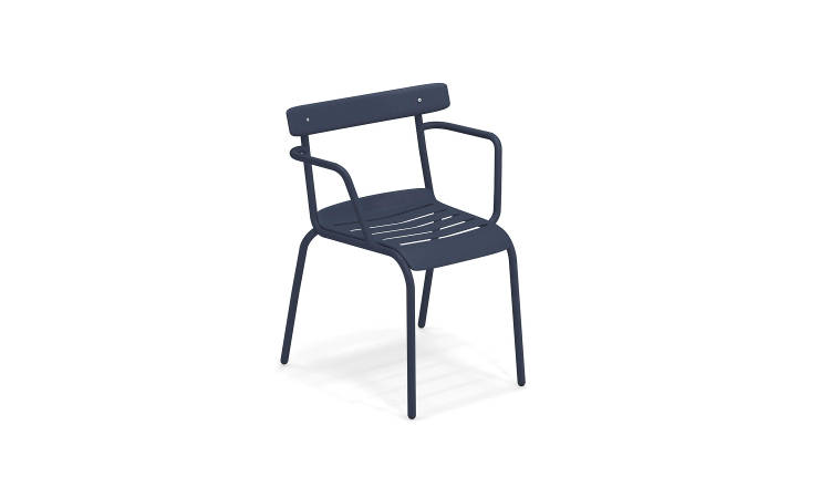 Miky, sedia bistrot da esterno, in tubolare di acciaio