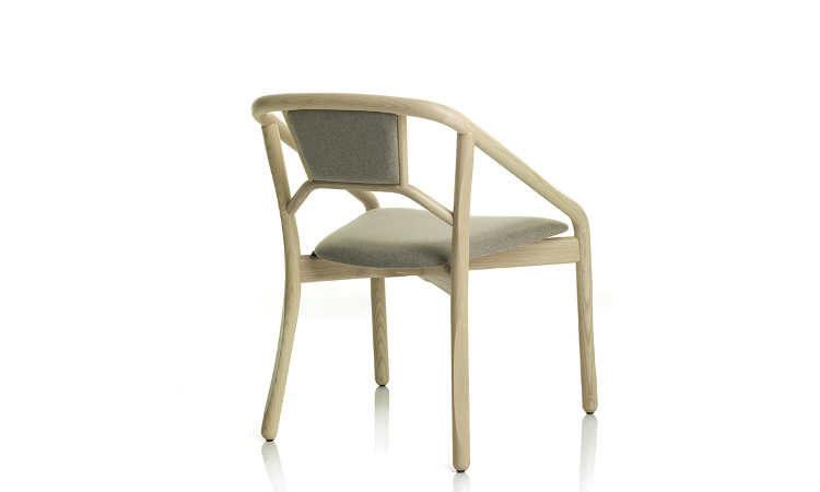 Marnie, sedia impilabile con sedile e schienale imbottito