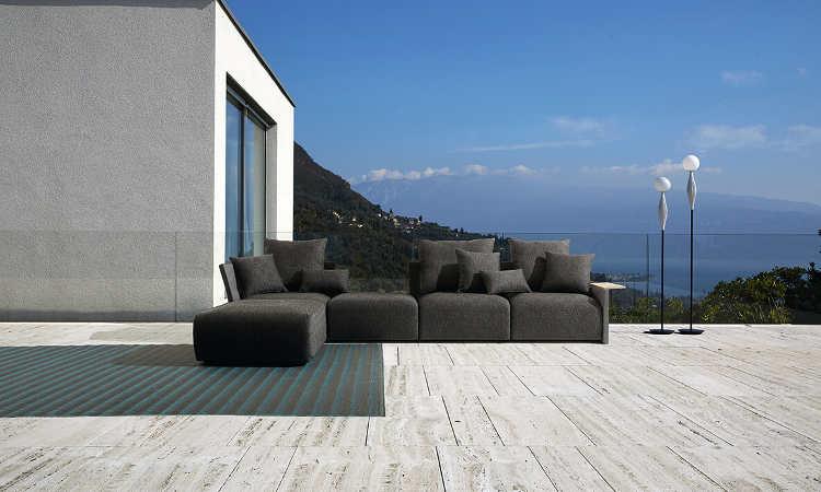 Begin, divano modulare per l'arredo outdoor