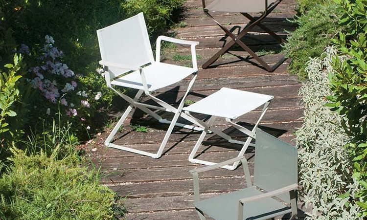 Ciak, sedia da giardino con struttura in alluminio