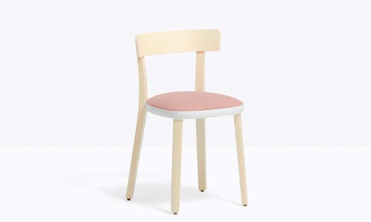 Folk, sedia ristorante classica, in legno