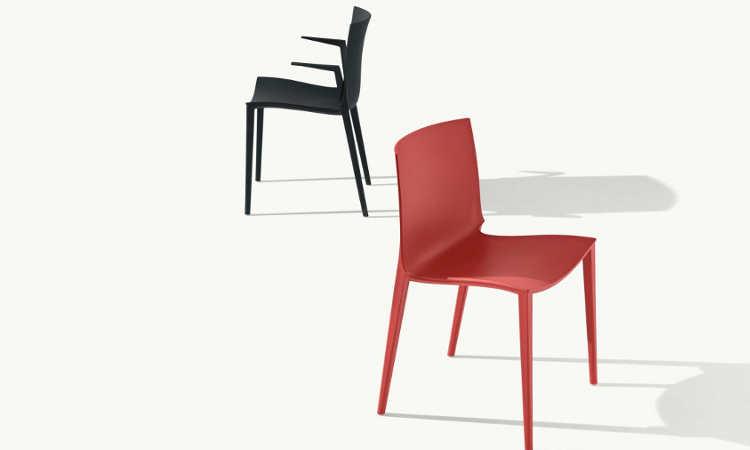 Palau, sedia moderna per l'arredo indoor e outdoor