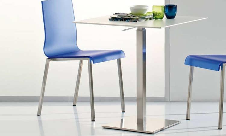 INOX adjustable, tavolo regolabile in altezza