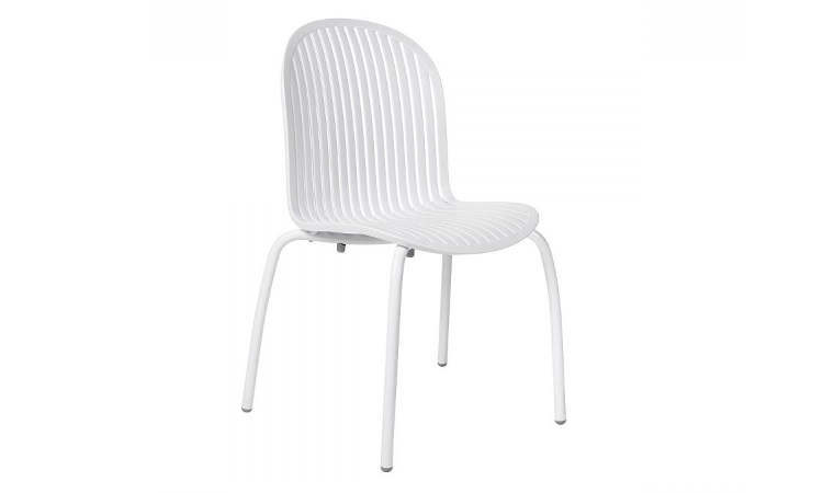 Ninfea Dinner, sedia moderna da esterno anti-UV