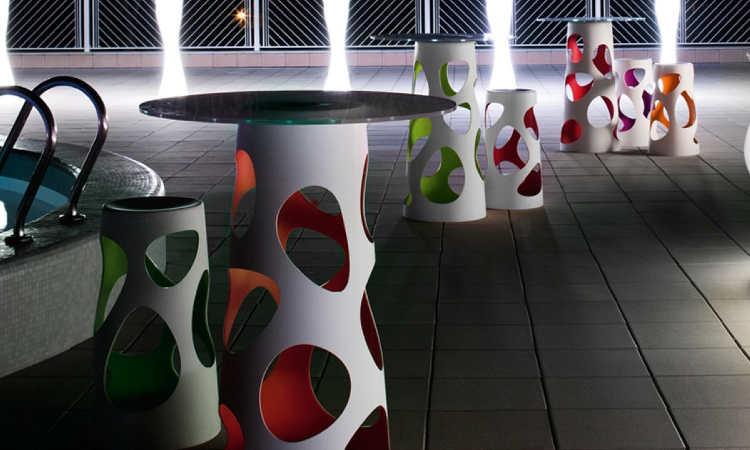 Liberty, tavolo bar moderno per l'arredo indoor e outdoor