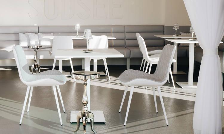 Dalia, sedia ristorante imbottita per ambienti interni