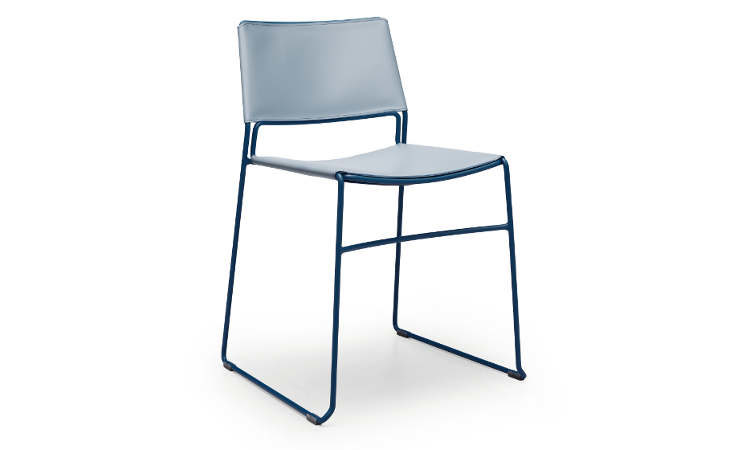 Slim, sedia impilabile per interni, arredo ristorante