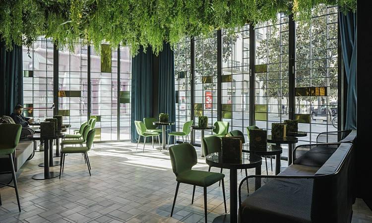 Wrap, sedia ristorante imbottita, per ambienti interi