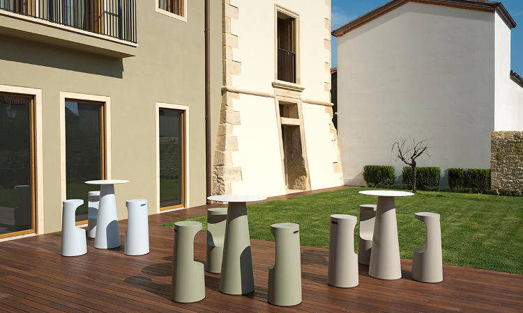 Fura, sgabello bar per l'arredo indoor e outdoor