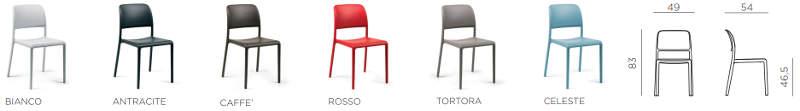 colori e dimensioni sedia riva