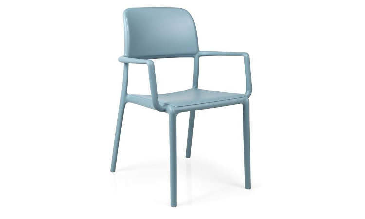Riva, sedia con o senza braccioli, impilabile