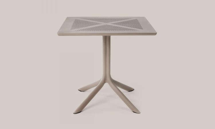 Clipx, tavolo bar per l'arredo outdoor a gamba centrale