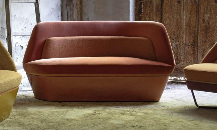 Bixib, divano imbottito due posti per ambienti interni