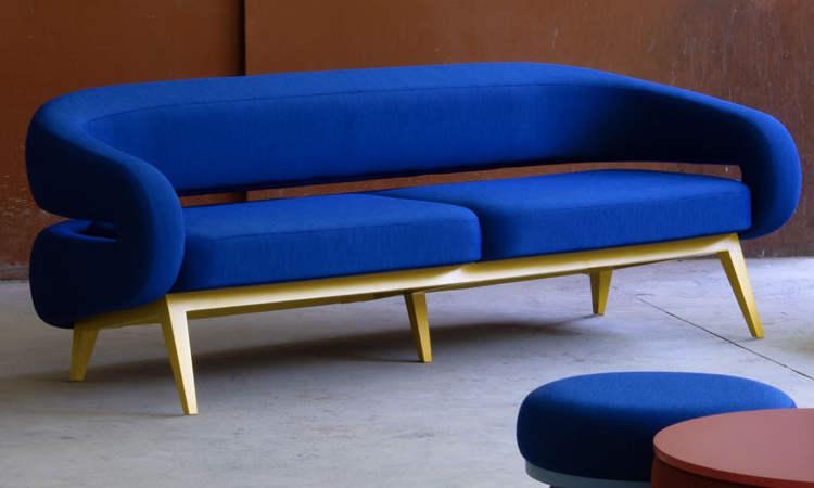 Roche, divano imbottito da due o tre posti