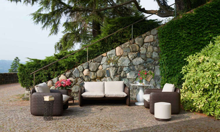 Mara, poltrona lounge per l'arredo indoor e outdoor