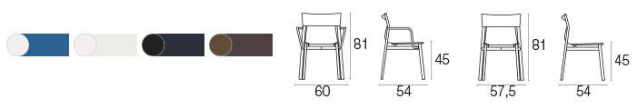 Colori e dimensioni sedia Breeze