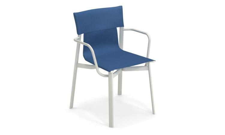 Breeze, sedia da esterno in alluminio e tessuto