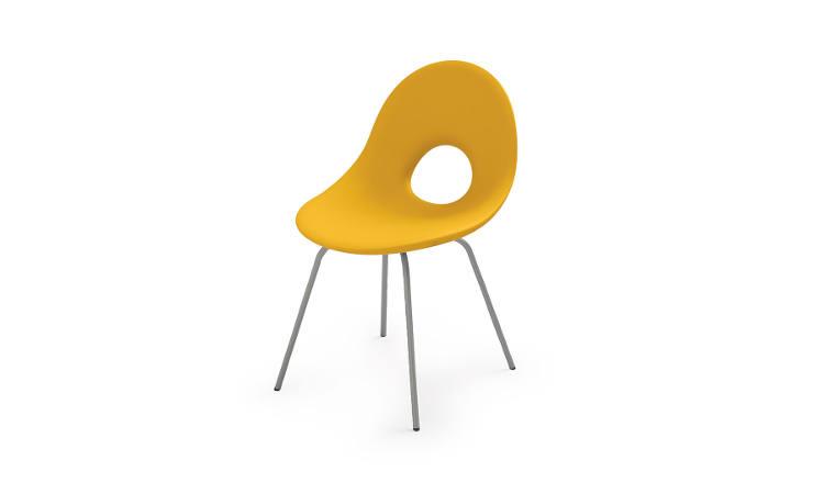 Candy, sedia moderna per ambienti interni ed esterni