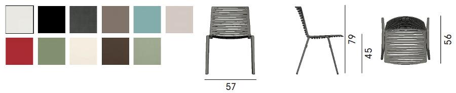 Colori e dimensioni sedia zebra