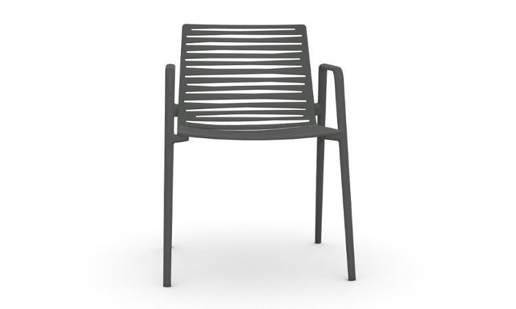 Zebra, sedia in alluminio per l'arredo outdoor