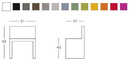 Colori e dimensioni sedia Angolo Retto