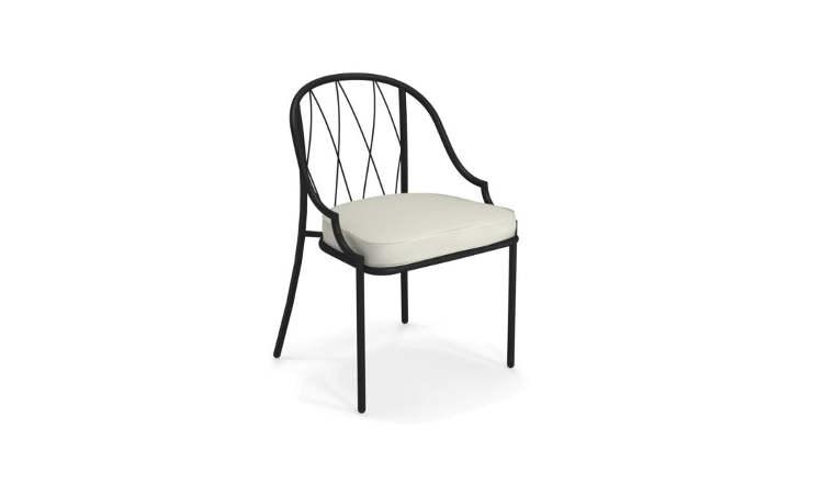 Como, sedia da giardino con struttura in acciaio