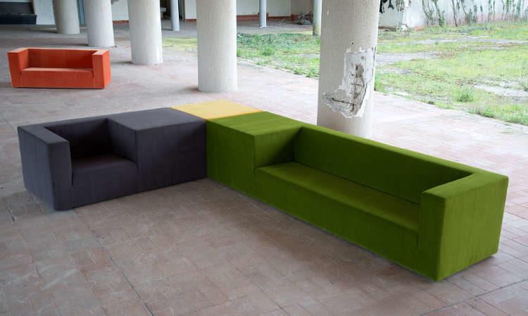 Pan, divano moderno per l'arredo outdoor