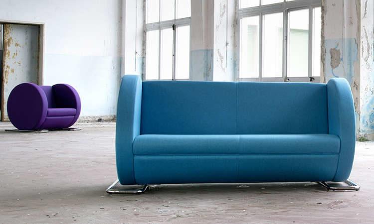 Tube, divano due, tre posti per ambienti interni