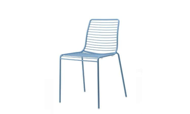 Summer, sedia da esterno in acciaio zincato