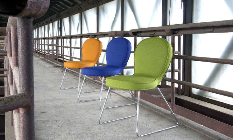 B4, sedia moderna per l'arredo indoor