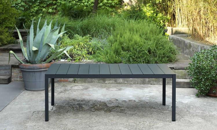 Rio Alu, tavolo allungabile per l'arredo giardino