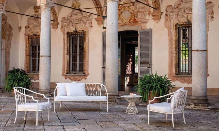 Como, divano due posti per l'arredo outdoor