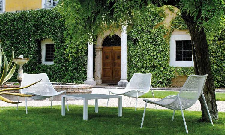Round, poltrona moderna per l'arredo giardino